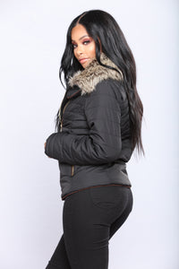 Harper Quilted Jacket - Black