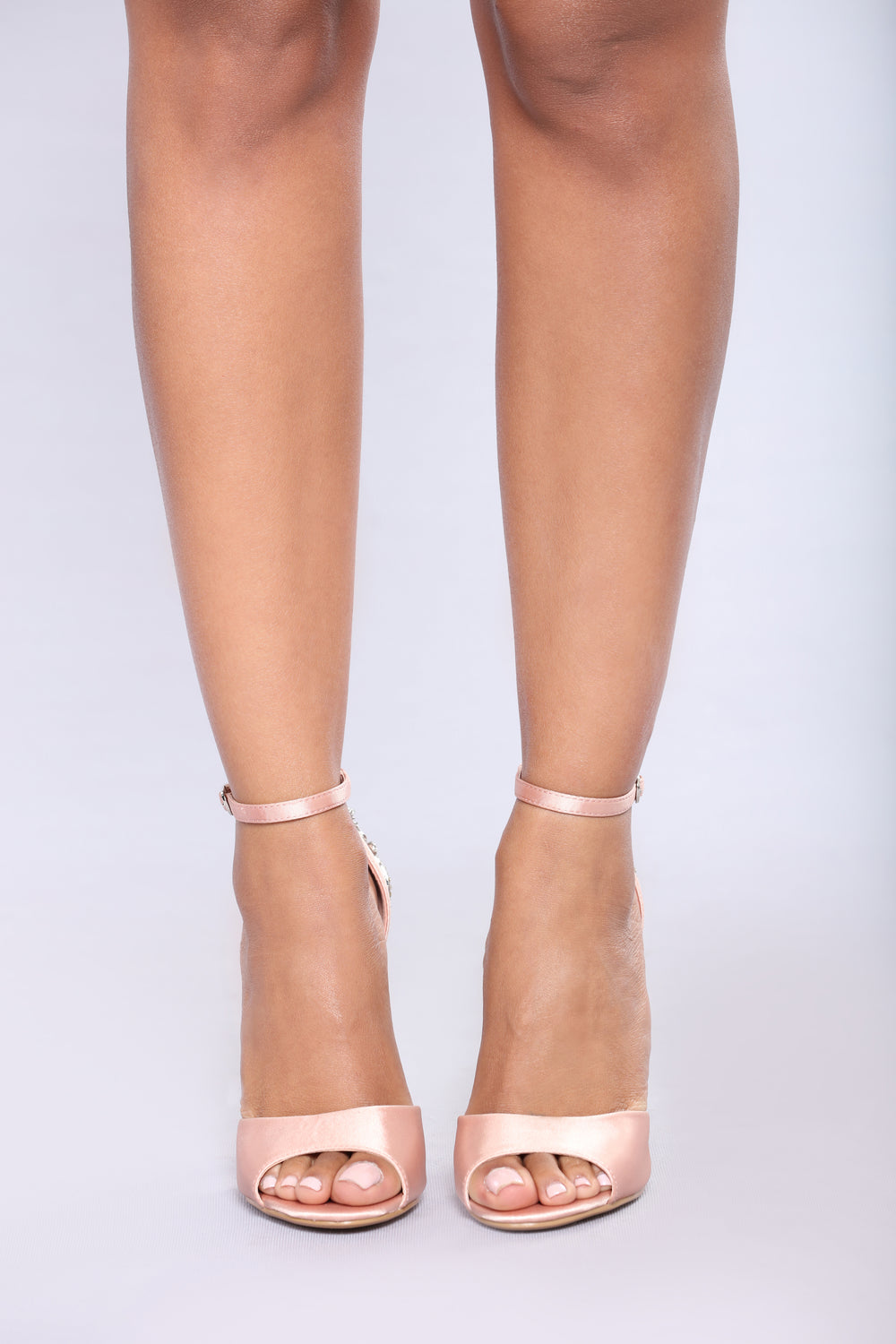 Aleema Jeweled Heel - Blush