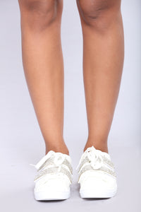 Jeweled Sneaker - White