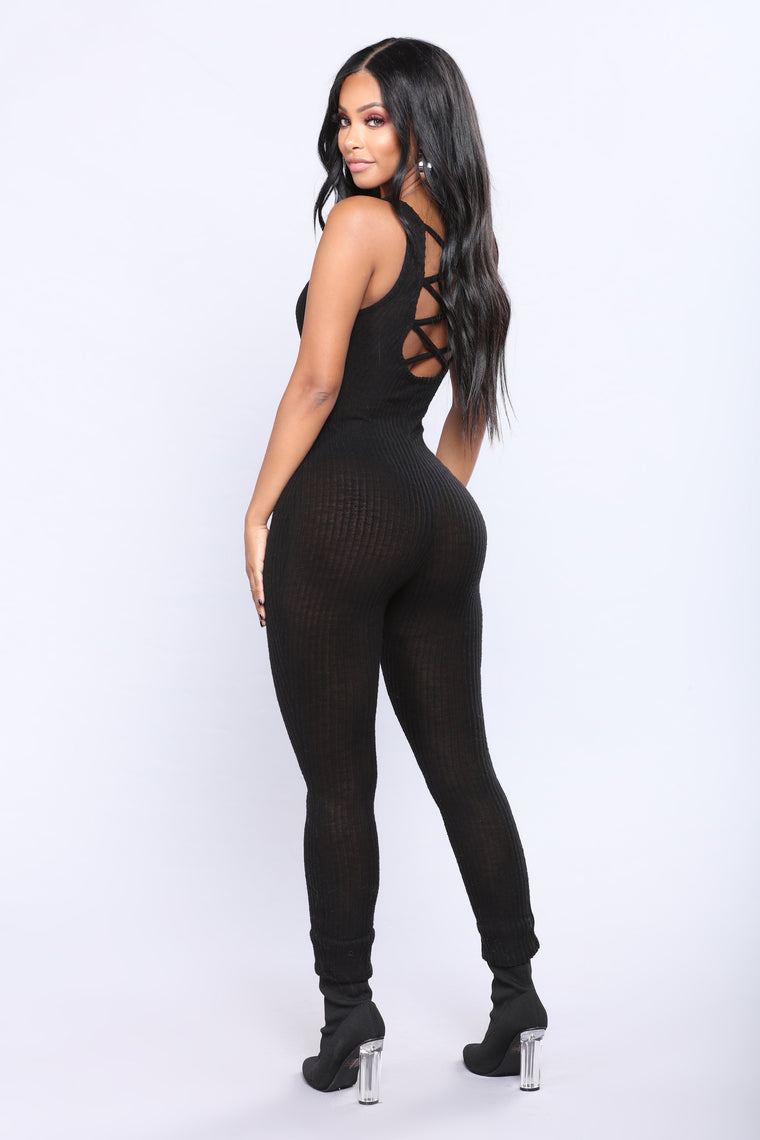 All Good Criss Cross Jumpsuit - Black