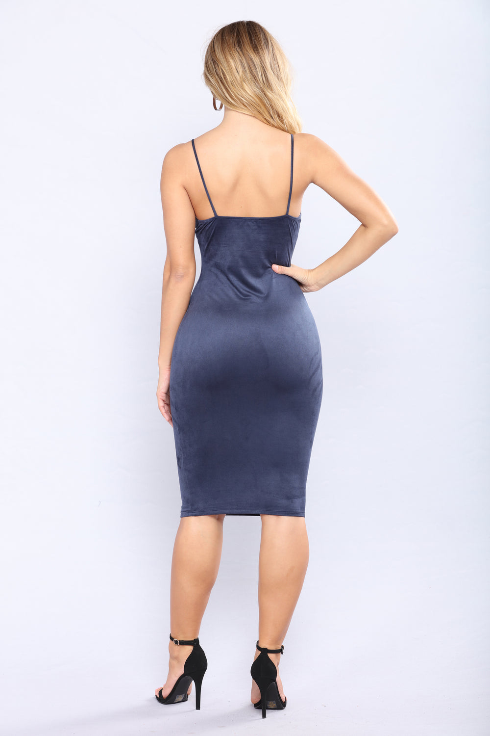 Iman Suede Dress - Navy