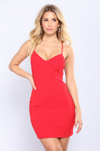 Elaina Mini Dress - Red