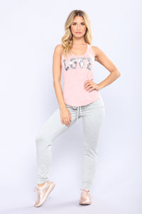 Filled With Love Tank Top - Mauve