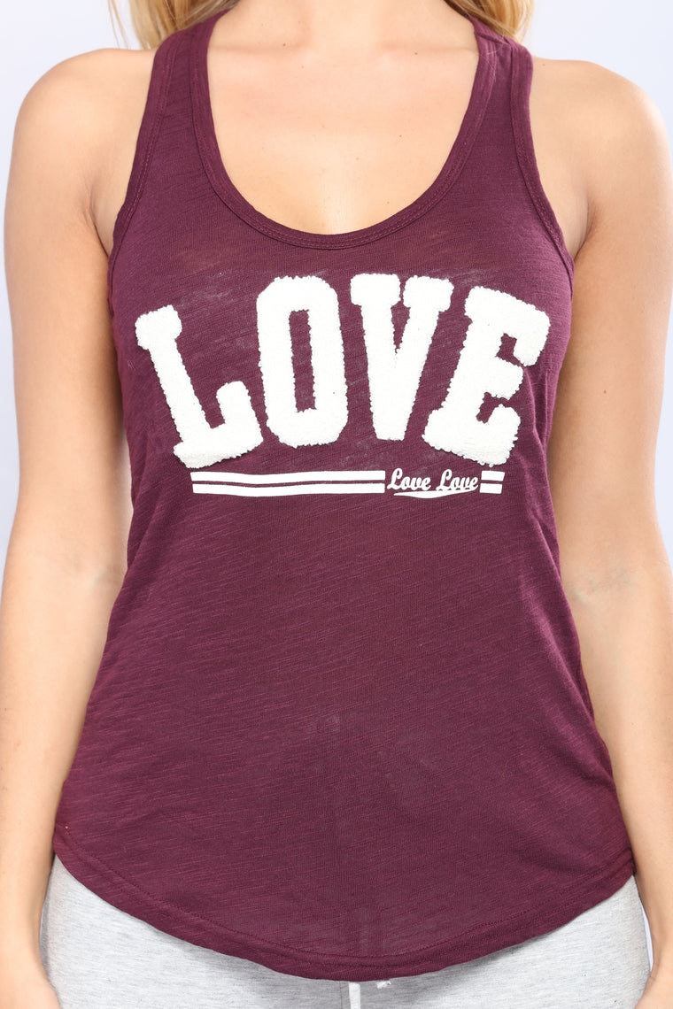 When I Am With You Tank Top - Plum