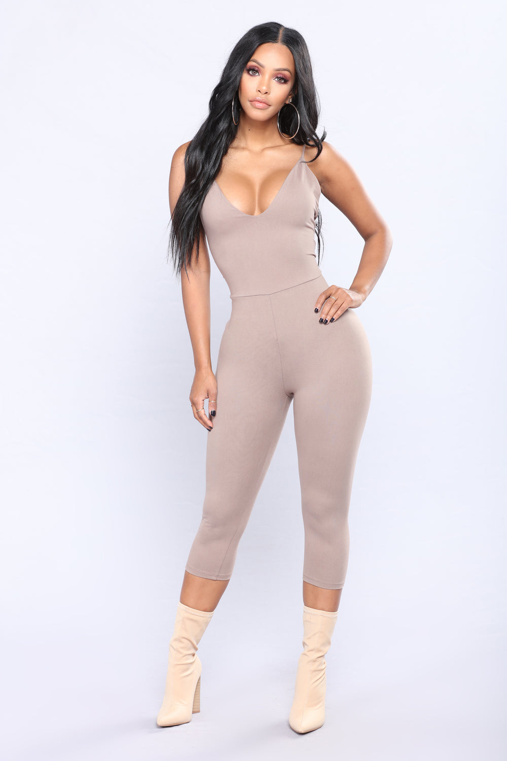 Speed Away Jumpsuit - Mocha