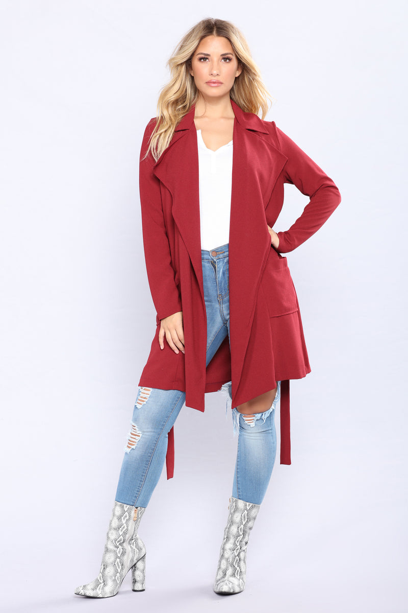 Remember Me Jacket - Burgundy