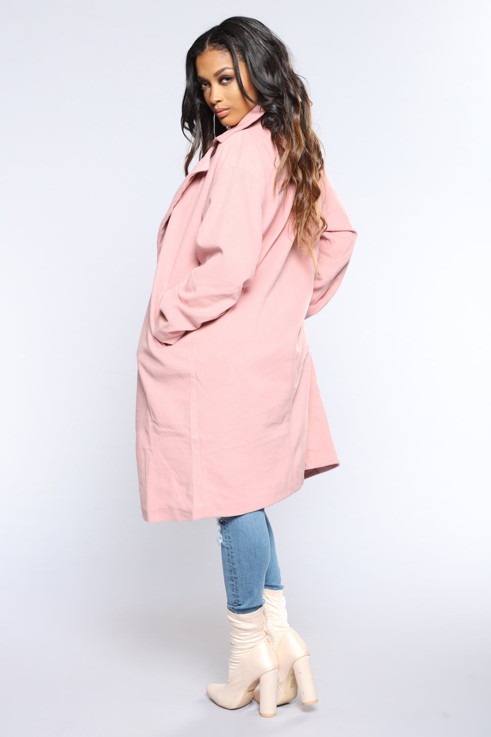 Out In The City Coat - Pink