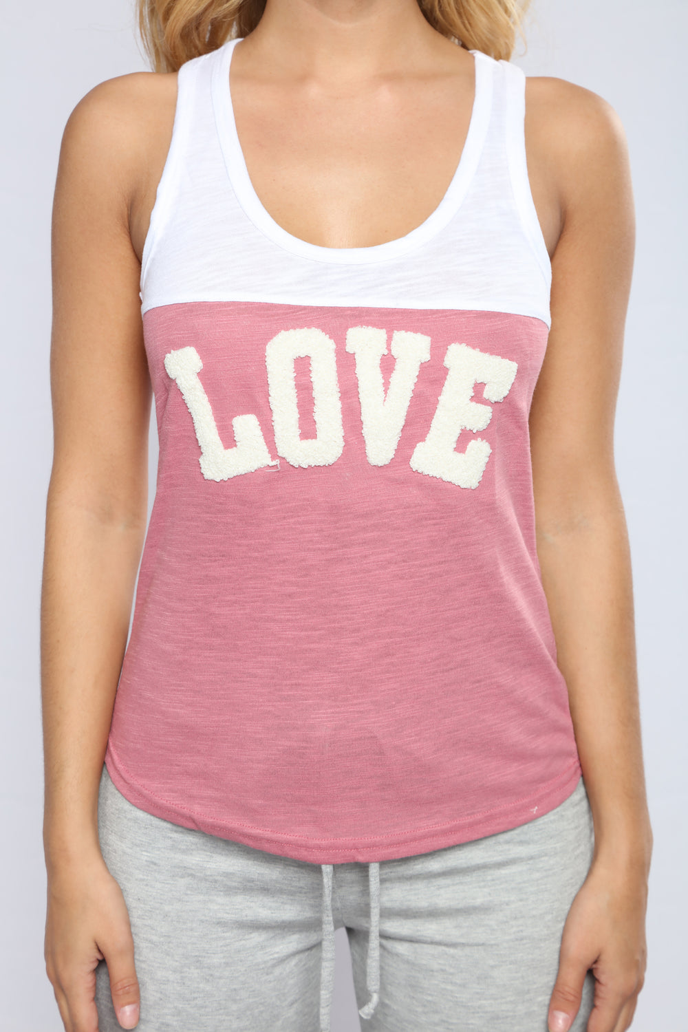 Feeling The Love Tank Top - Pink