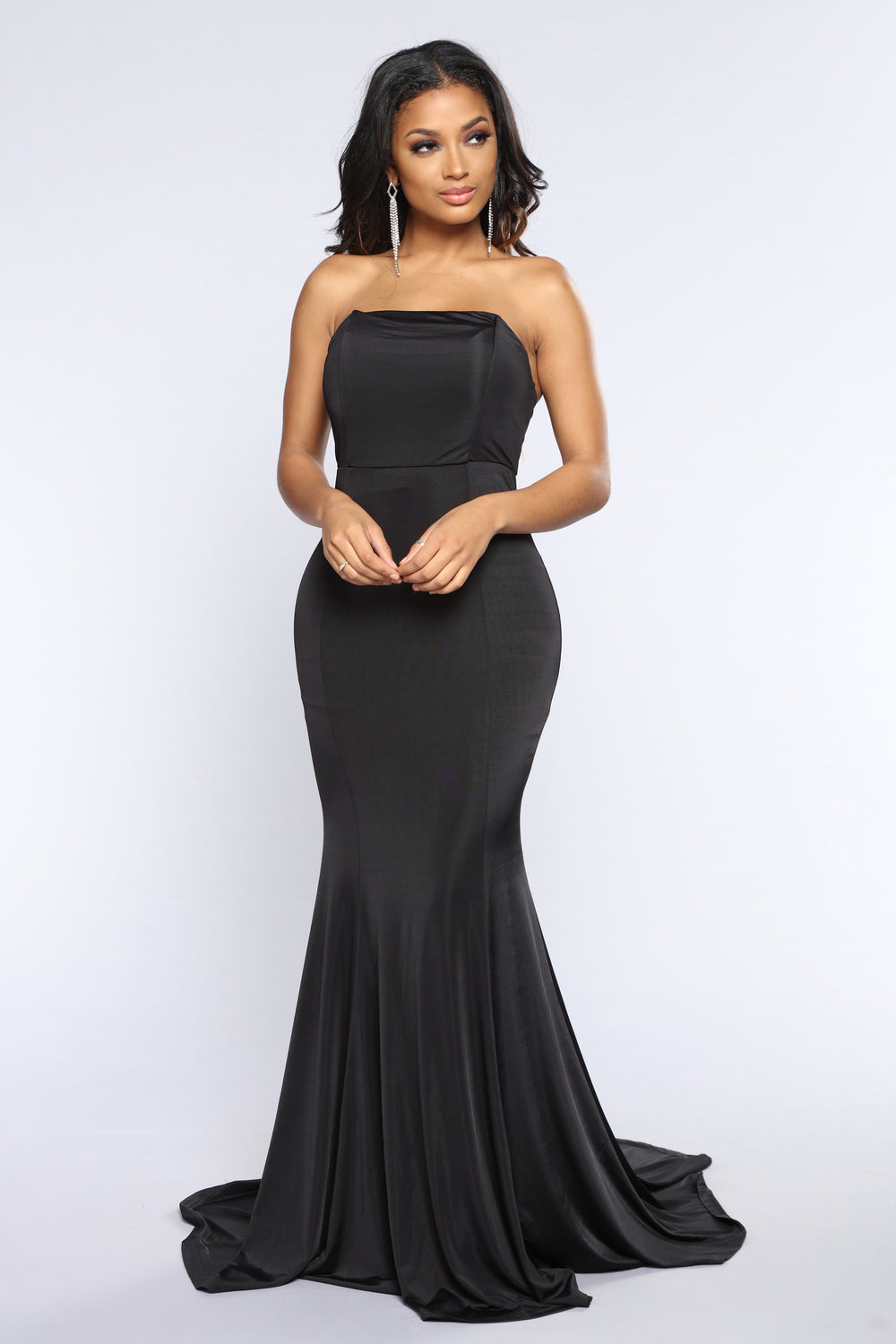 Leave You Breathless Strapless Dress - Black