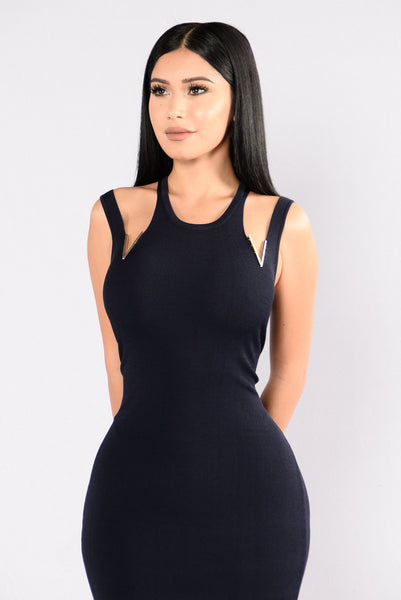 Someone Like Me Dress - Navy