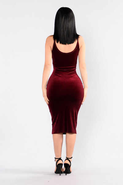 In My Zone Dress - Burgundy