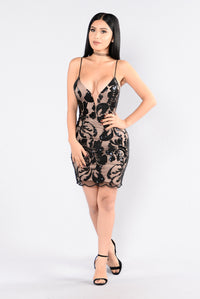 No Time Wasted Dress - Black Angle 1