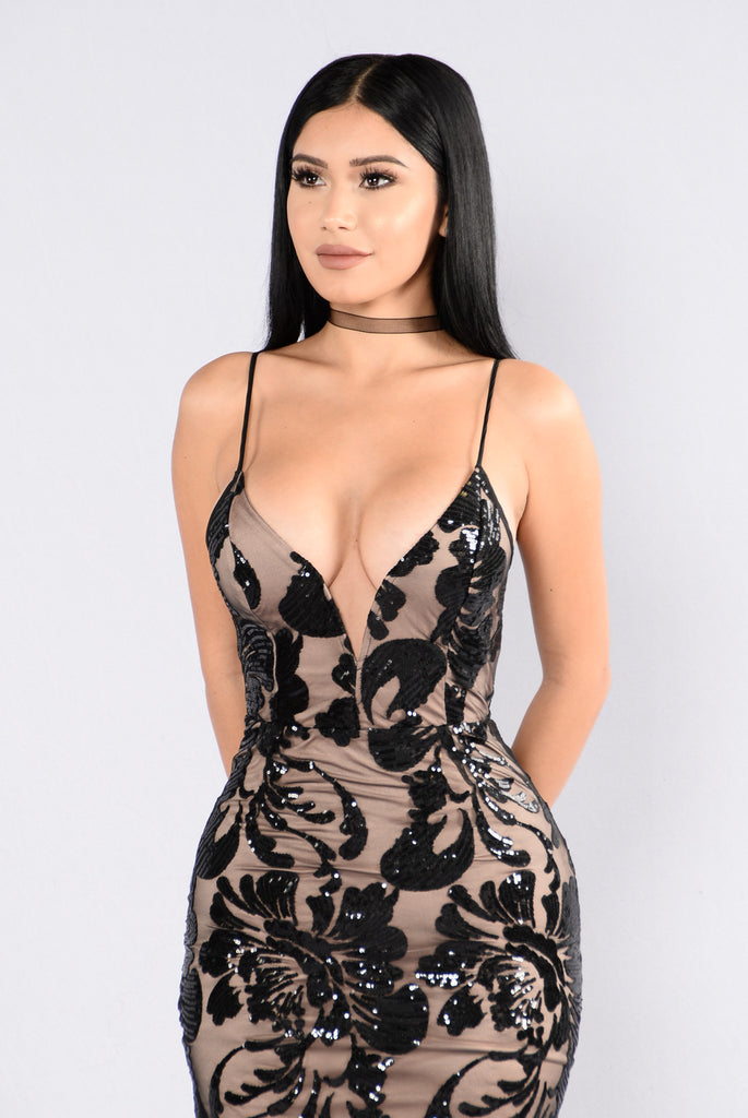 No Time Wasted Dress - Black