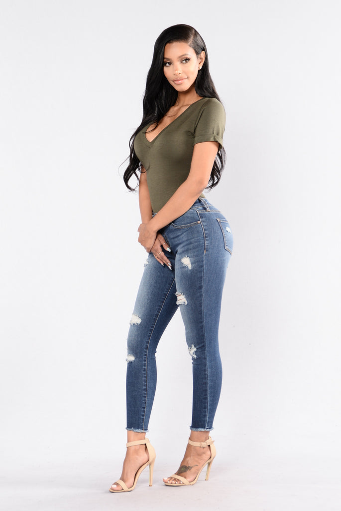 Lala Jeans - Medium Blue