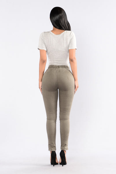 Drive By Leggings - Olive