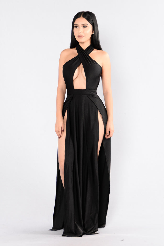 Curve Appeal Dress - Black-1384