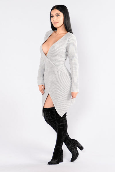 Right Intentions Dress - Grey