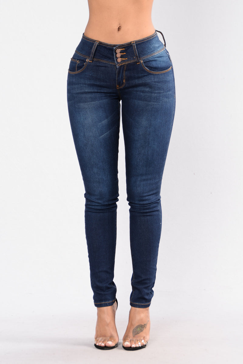 Booty Me Down Jeans - Dark Blue