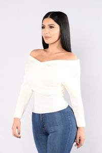 Criss Cross Sweater - Ivory