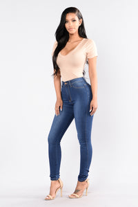 Addicted To A Memory Jeans - Medium Blue Angle 6