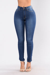 Addicted To A Memory Jeans - Medium Blue Angle 1