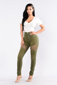 Midnight Assassin Jeans - Olive Angle 2
