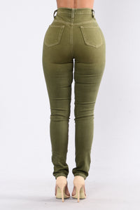 Midnight Assassin Jeans - Olive Angle 3