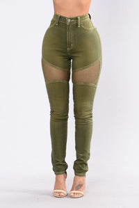 Midnight Assassin Jeans - Olive Angle 1