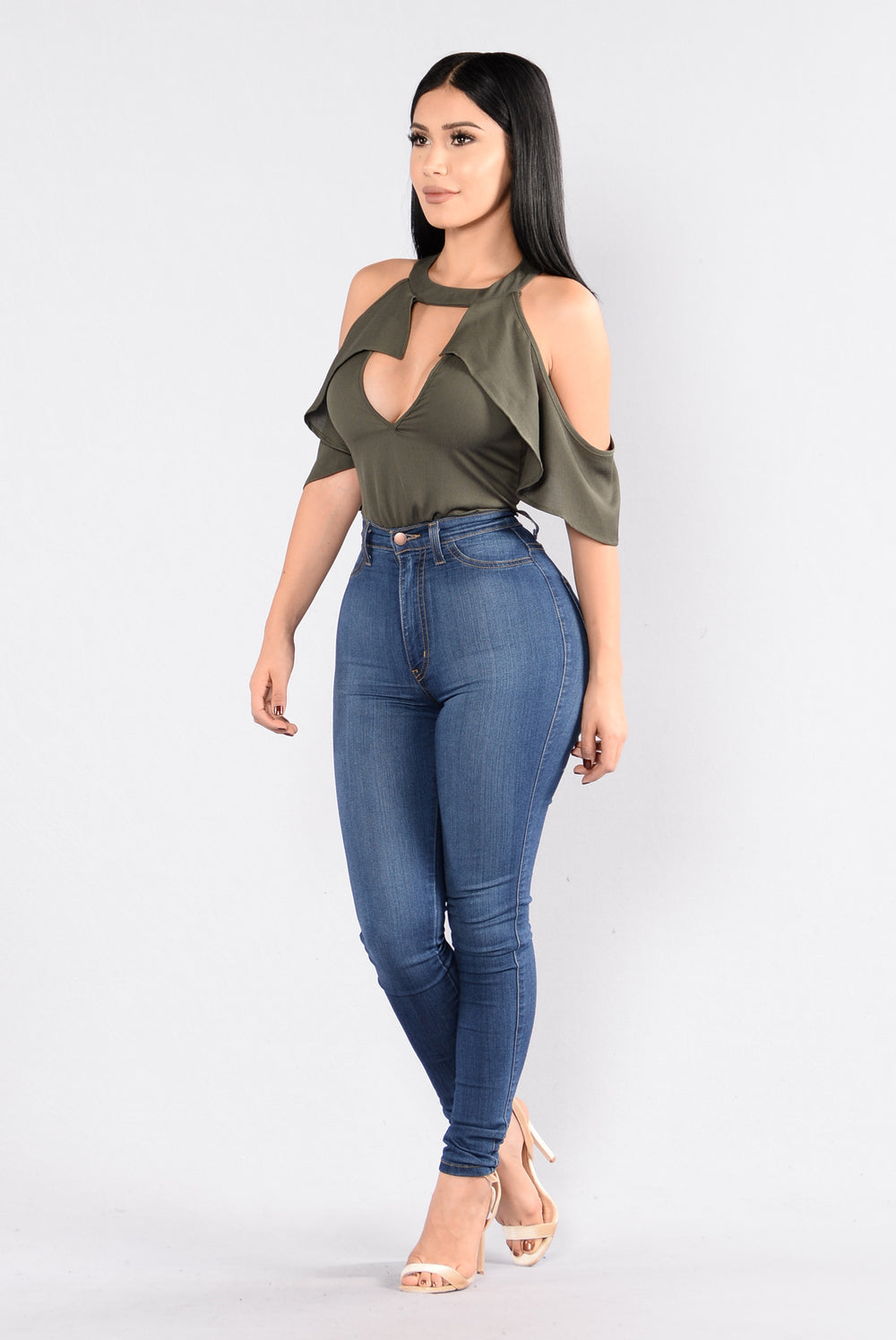 Bound To You Bodysuit - Olive