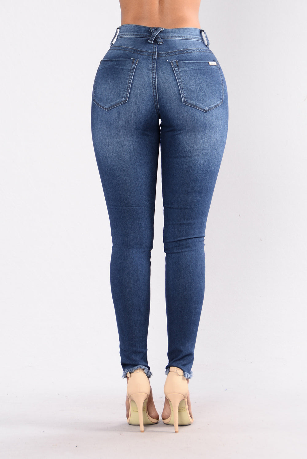 Follow You Down Jeans - Medium Blue