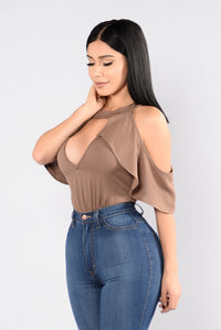 Bound To You Bodysuit - Mocha