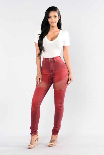 Midnight Assassin Jeans - Burgundy
