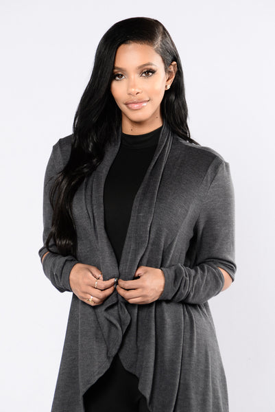 Get It Together Cardigan - Charcoal