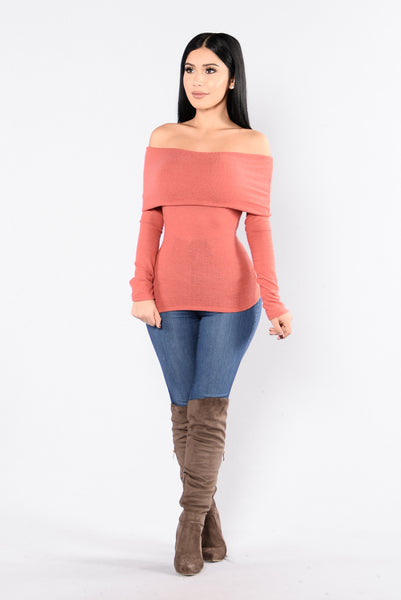 Side Swipe Top - Marsala