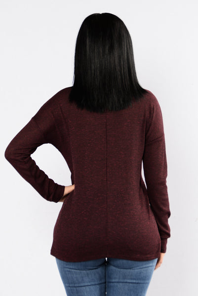 Sac Town Sweater - Burgundy