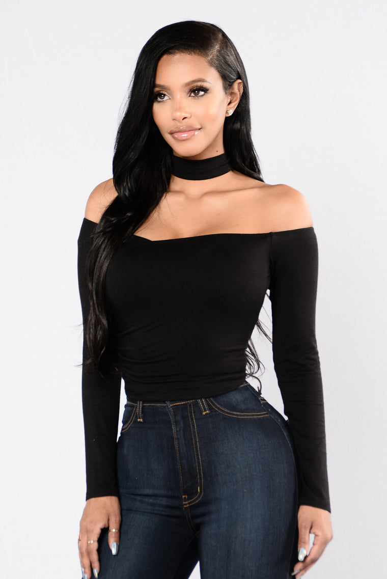 You Are An Angel Top - Black