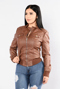 Live The Night Jacket - Cognac