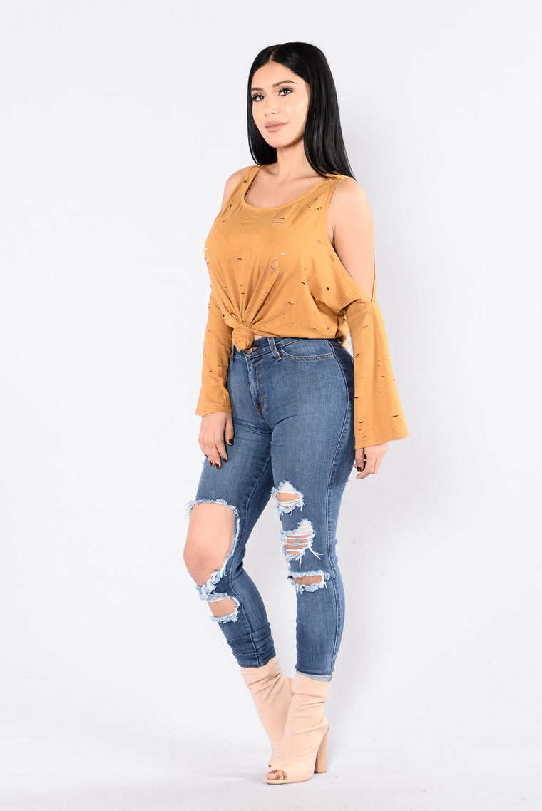 Freaky Friday Top - Camel