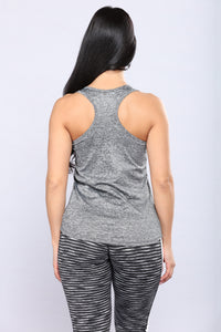 Love Song Active Top - Marled Charcoal