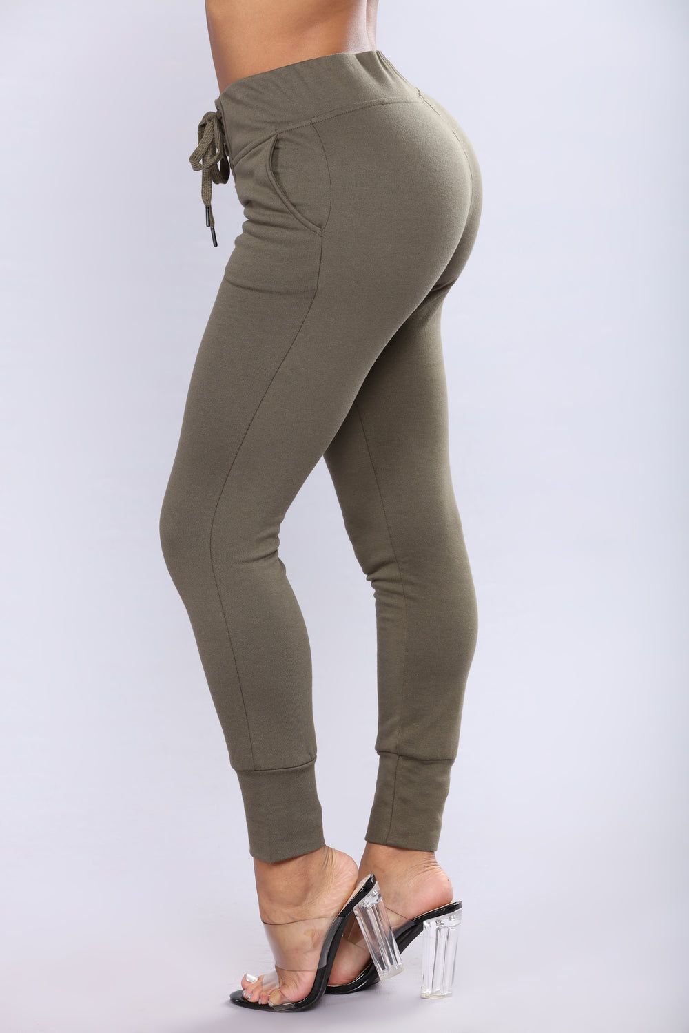 Laced With Style Joggers - Olive