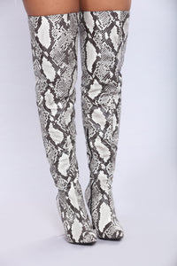 Geena Over The Knee Boot - Snake