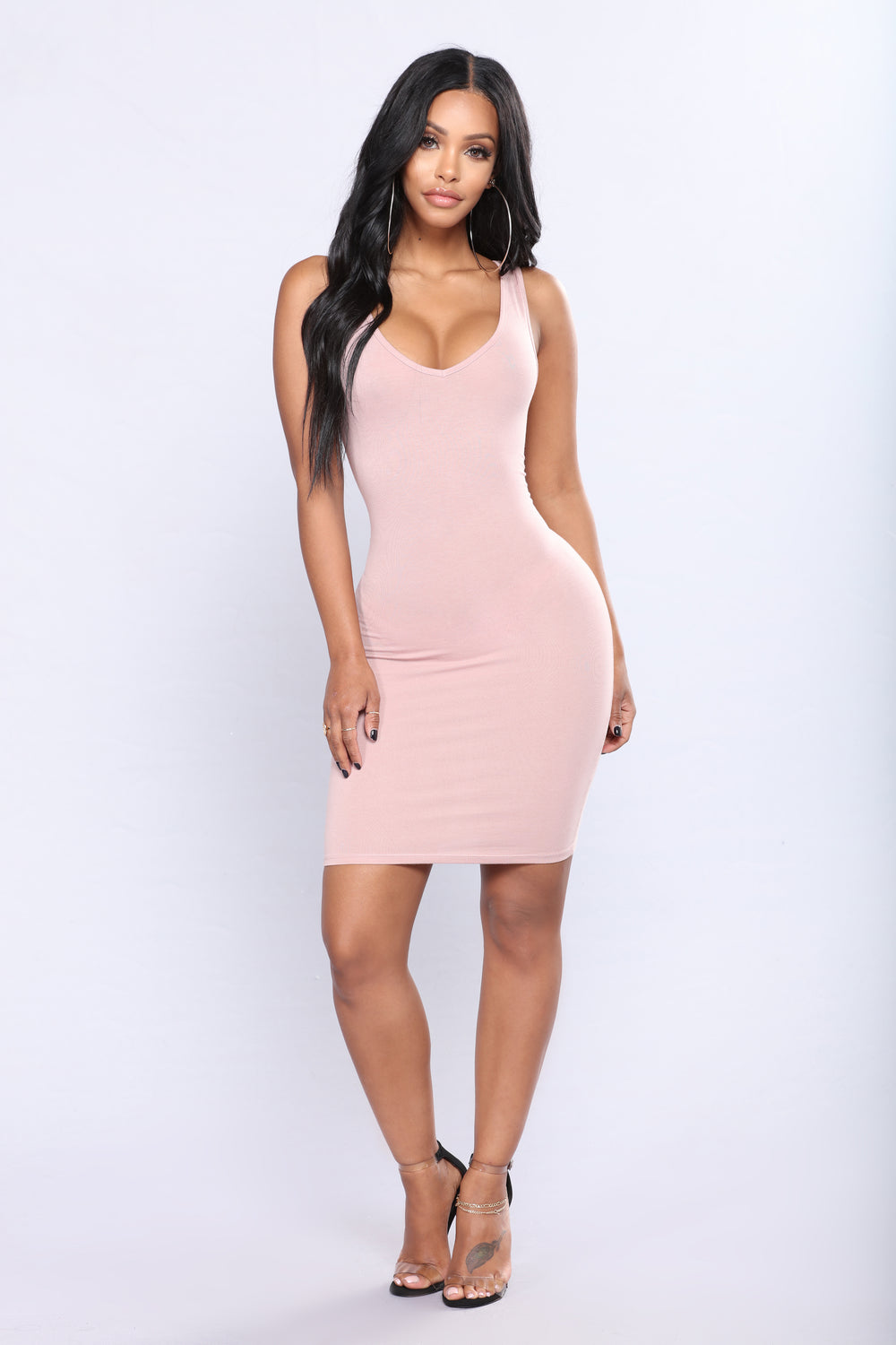 Keep It Casual Mini Dress - Mauve