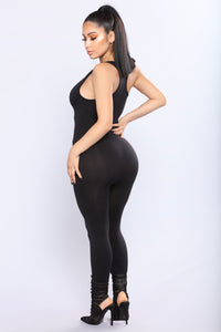 Brooklyn Seamless Jumpsuit - Black