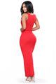 Mulberry Street Maxi Dress - Red