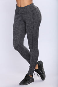 Cross Country Active Leggings - Charcoal/Black
