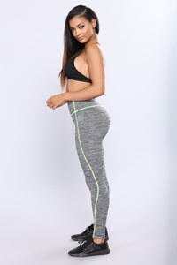 Going To The Gym Active Leggings - Yellow