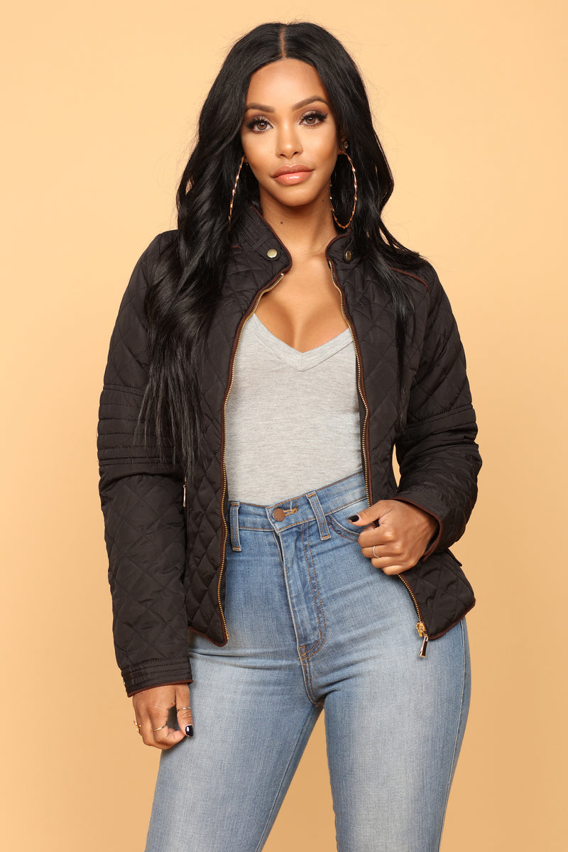 Evelyn Quilted Jacket - Black