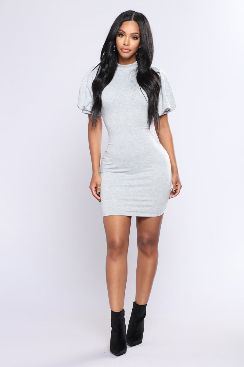 Adore You Dress - Heathered Grey