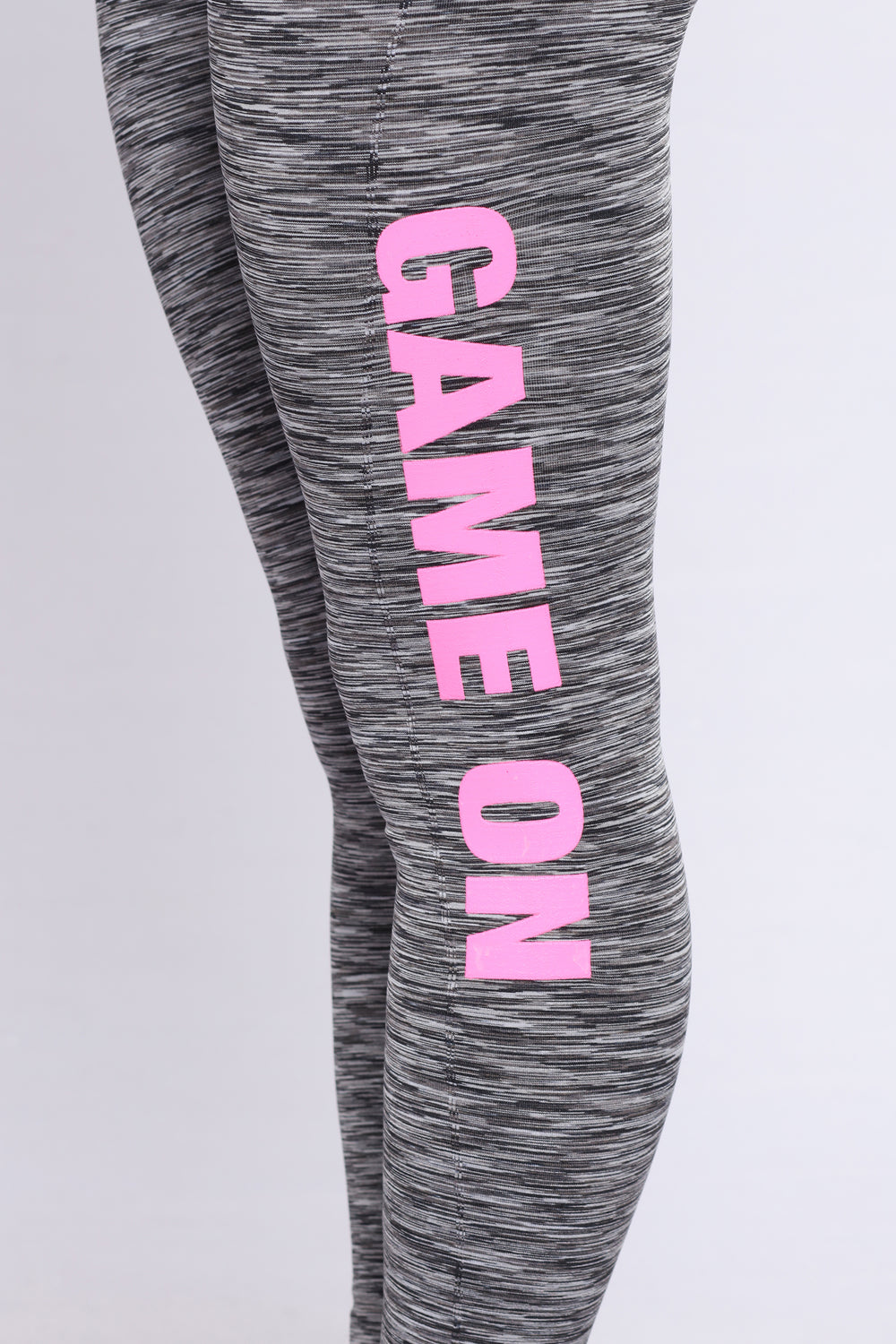 Game On Active Leggings - Black/Pink
