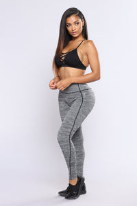 Going To The Gym Active Leggings - Black
